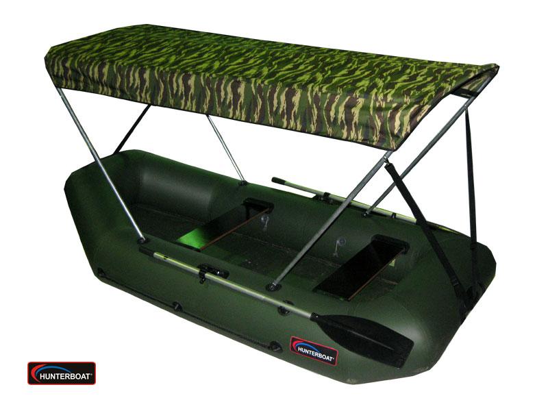лодка хантер с тентом